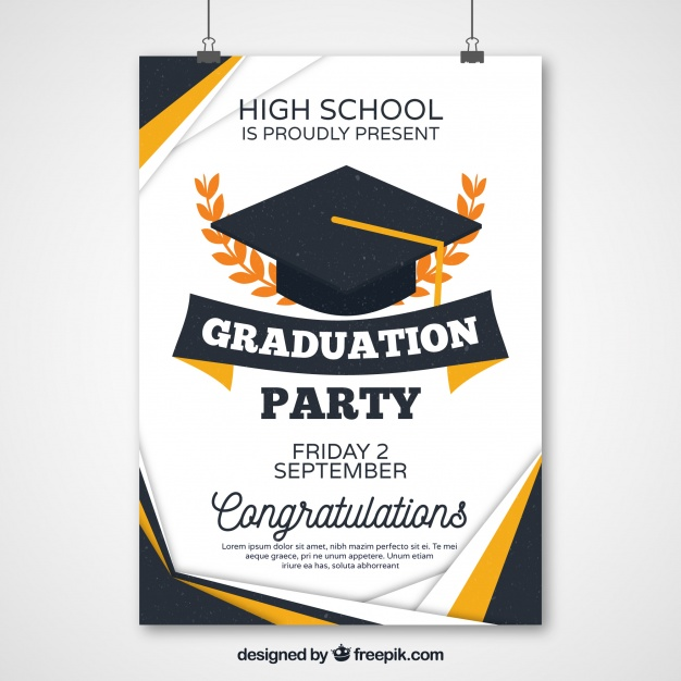 Abstract Graduation Party Poster
