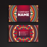 Ornamental Floral Business Cards
