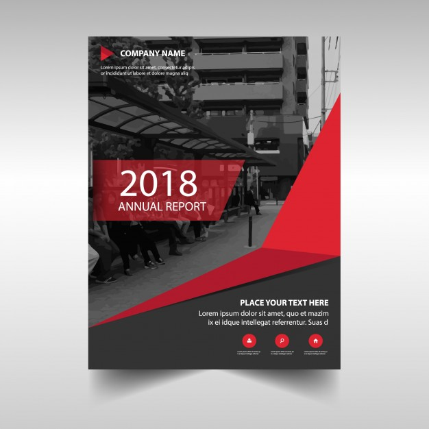 Red Creative Annual Report Cover Template