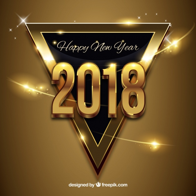 New Year Golden Background