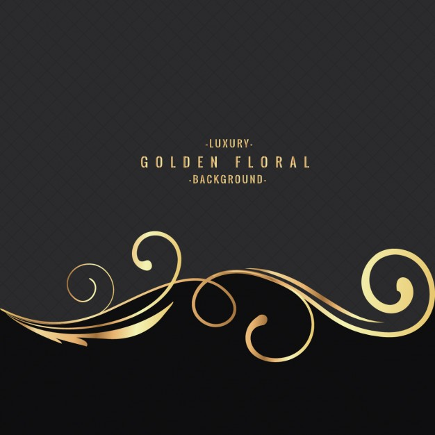 Luxury Golden Floral Background