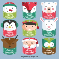Nice Pack Of Christmas Characters Stickers