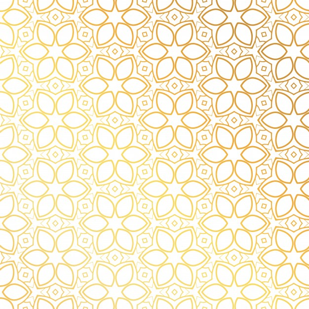 Golden Pattern With Floral Shapes
