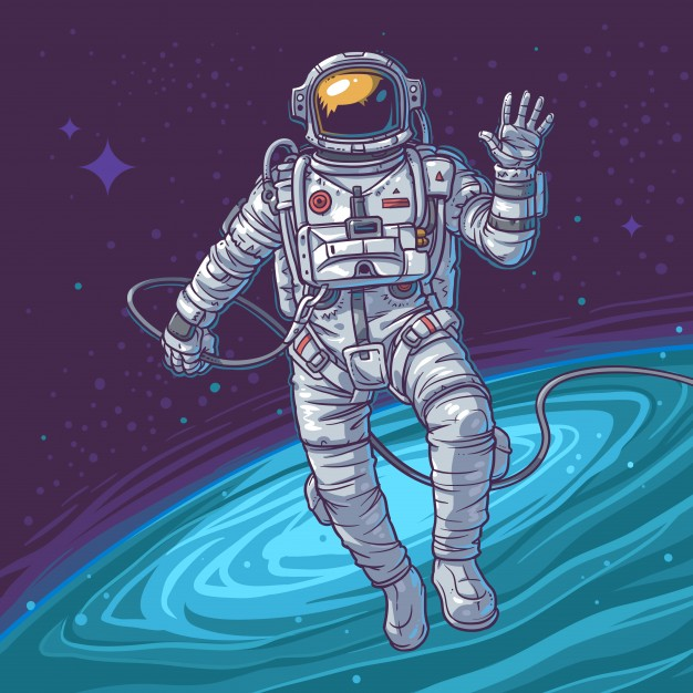 Vector Illustration Cosmonaut