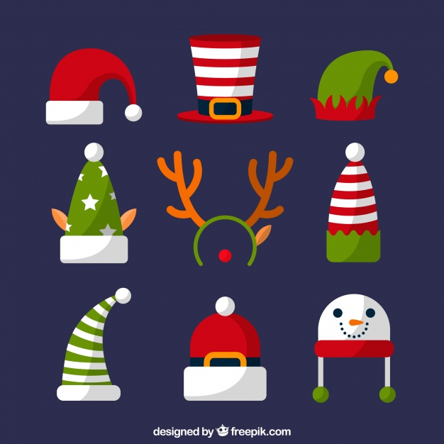 Assortment Of Christmas Hats