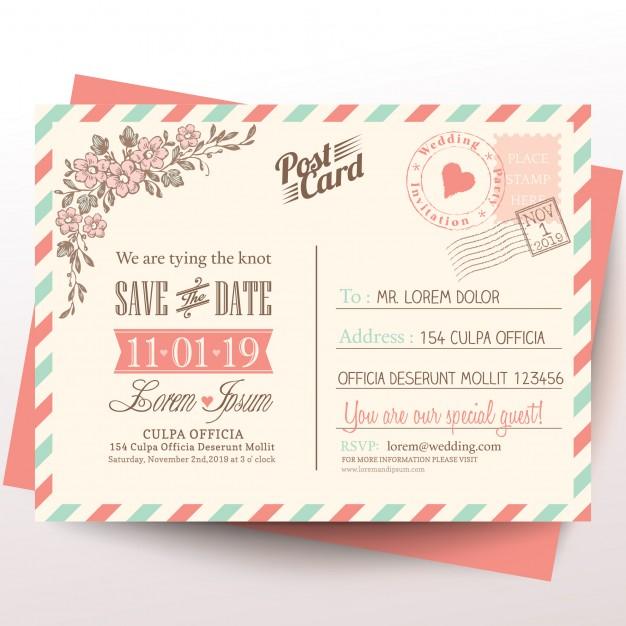 Postcard For A Wedding Invitation