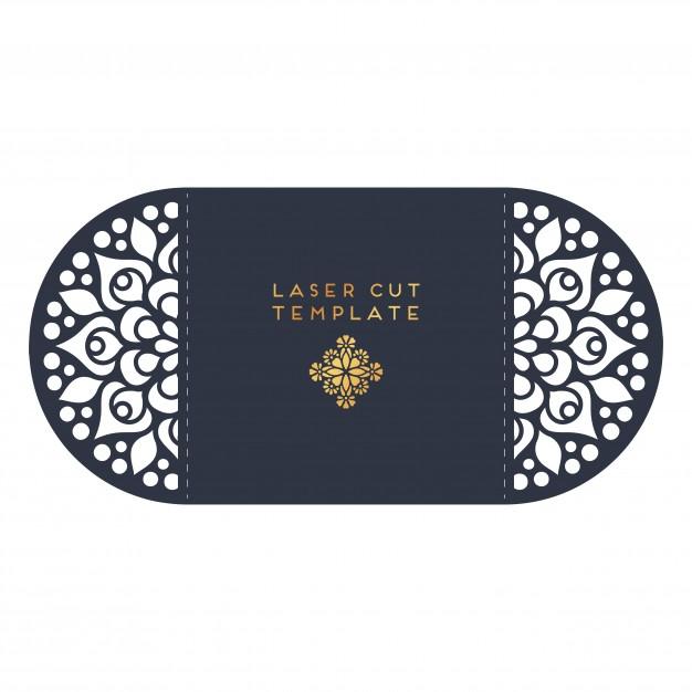 Vector Wedding Card Laser Cut