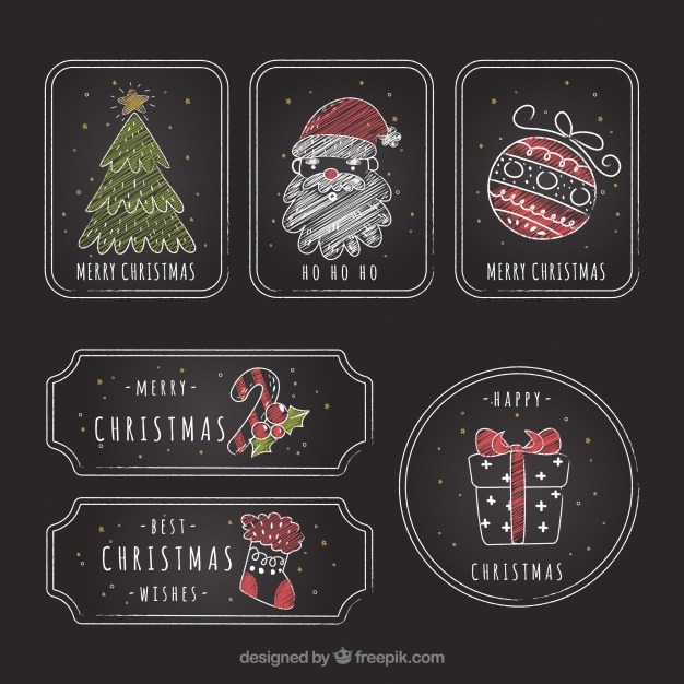 Pack Of Vintage Christmas Stickers