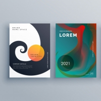 Abstract Business Brochure Design Set