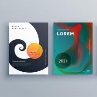 Abstract Business Brochure Design Set