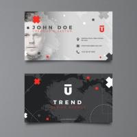 Dark Corporate Business Card Template