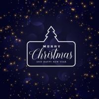 Blue Christmas Holiday Background Design