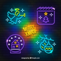Christmas Set Of Neon Lights