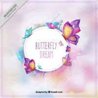 Background Of Pretty Butterflies