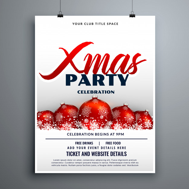 Christmas Party Celebration Flyer