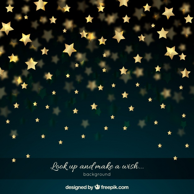 Night Sky With Golden Stars