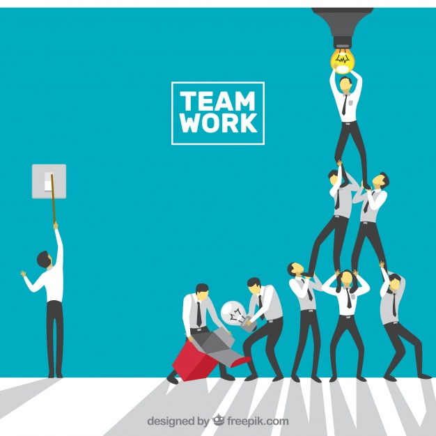 Concept About Teamwork, Bulb