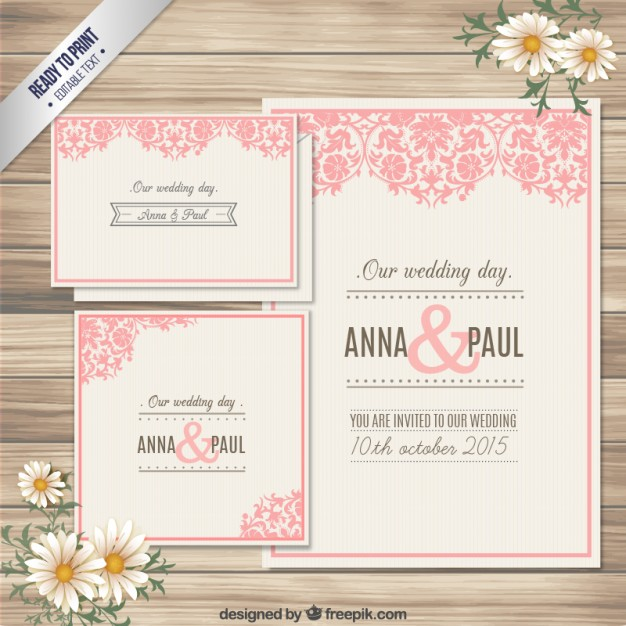 Ornamental Wedding Invitation Card