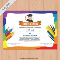 Colorful Children's Diploma Template