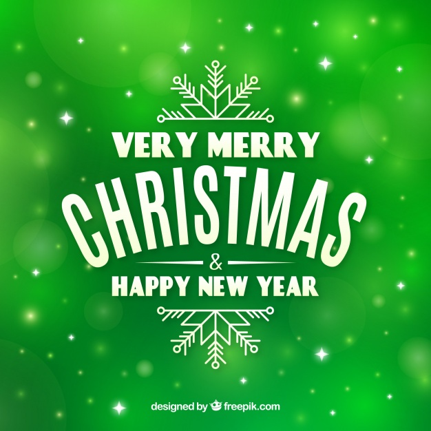 Green Background Very Merry Christmas