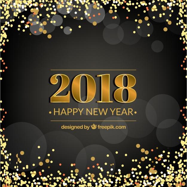 Black New Year Background