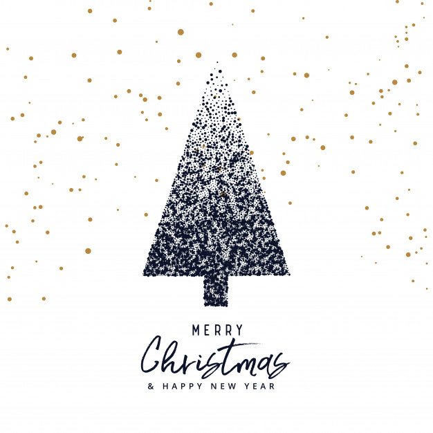 Creative Christmas Tree Design Made With Dots