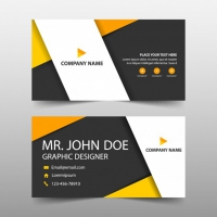Orange Corporate Business Card Template