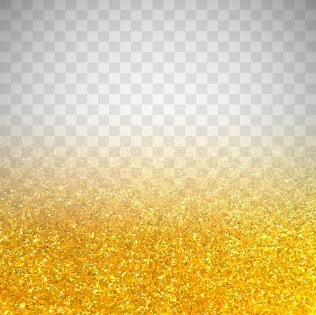 Golden Glitter On Transparent Background