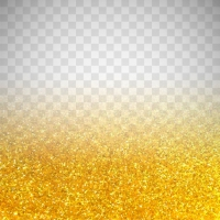 Golden Glitter On Transparent Background
