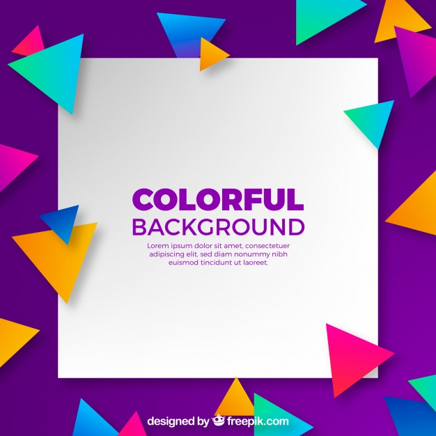 Background With Colorful Triangles