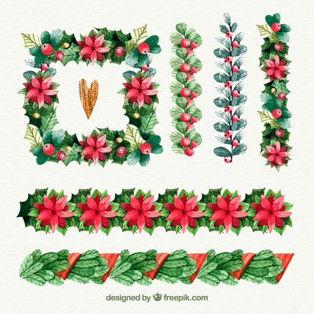 Pack Of Beautiful Decorative Christmas Borders