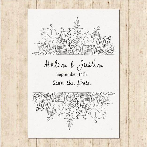 Hand Drawn Wedding Invitation