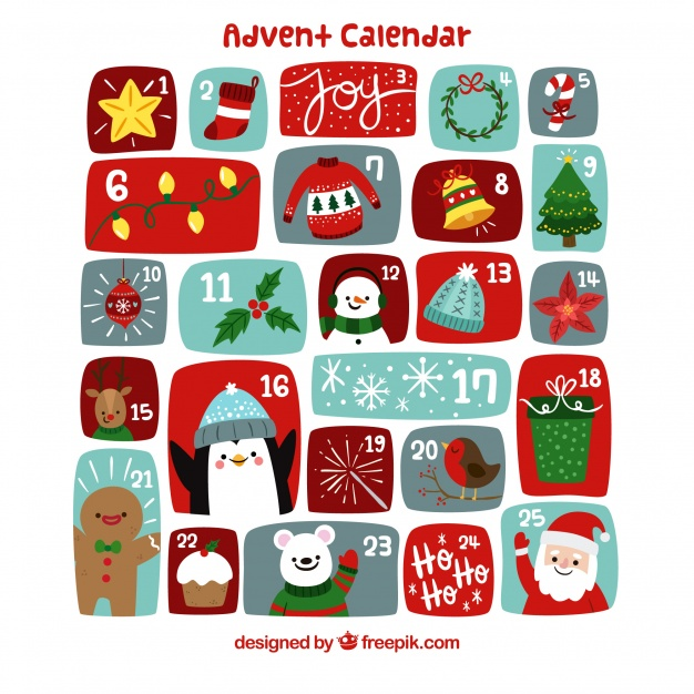 Cute Hand Drawn Advent Calendar