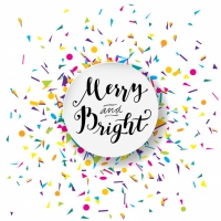 Merry And Bright Modern Calligraphic
