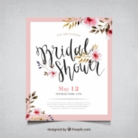 Bachelorette Card With Watercolor Flowers