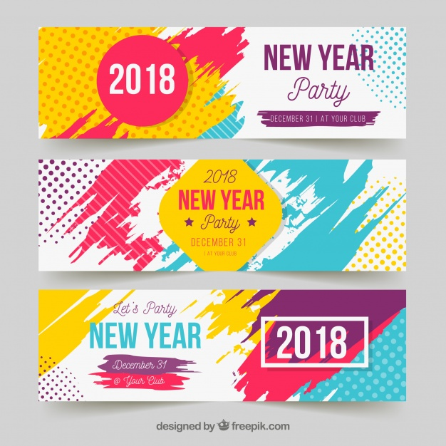 New Year Party Banners