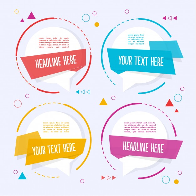 Four Colorful Text Template