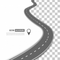 Vector Path On The Road