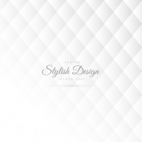 Stylish White Pattern With Rhombus