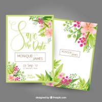 Bachelorette Card With Flowers And Leaves