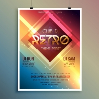 Bright Poster For A Retro Disco Party