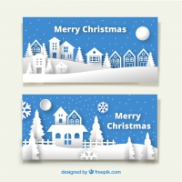 Banners Of Christmas Cities