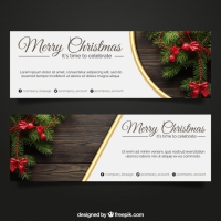 Banners With Photo Elements For Christmas