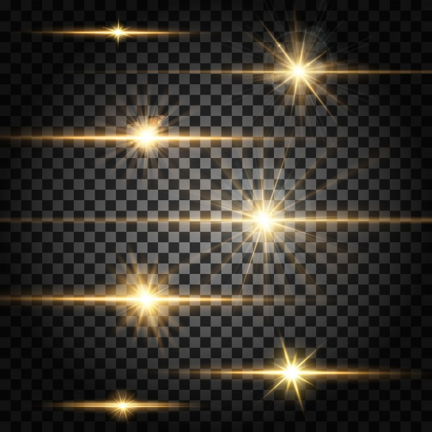 Light Effect Horizontal Dividers
