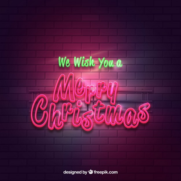 Bright Merry Christmas Poster Background