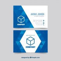 Geometric Blue Business Card Templat