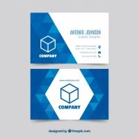 Geometric Blue Business Card Templat