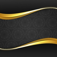 Modern Stylish Golden Wave Background