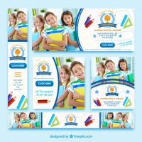 Collection Of Banners Back To School