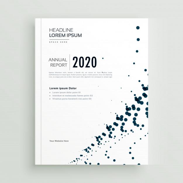 Stylish Minimal Dots Abstract Brochure